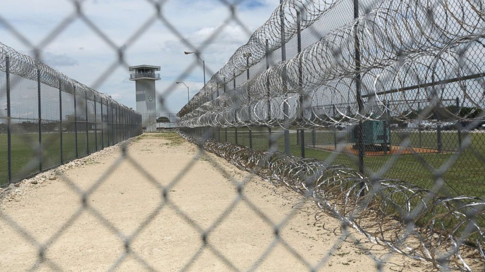 This Wednesday, June 21, 2017 file photo shows barbed wire surrounding the prison in Gatesville, Texas.