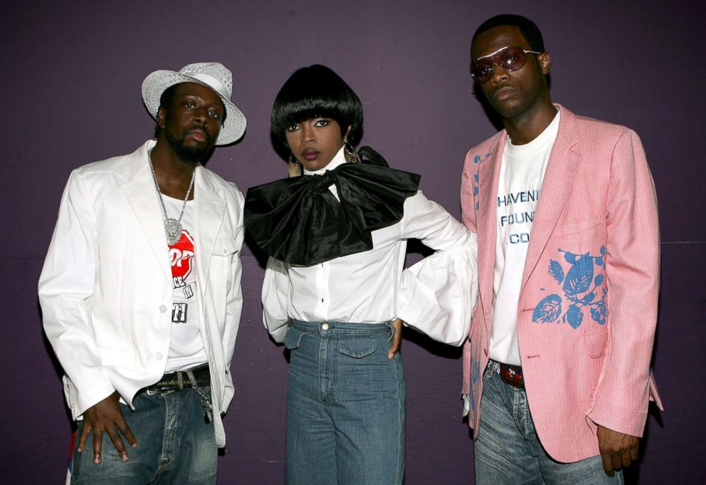 PHOTO: Musicians Wyclef Jean, Lauryn Hill and Pras Michel of the band the Fugees.