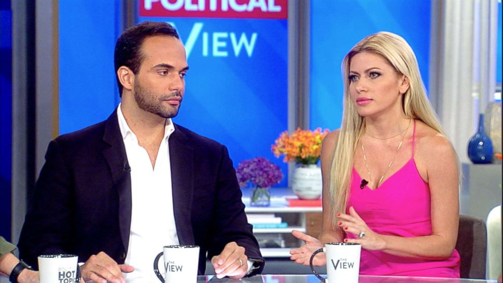 PHOTO: George Papadopoulos appears on The View with his wife, Simona Mangiante Papadopoulos, Sept, 09, 2018.