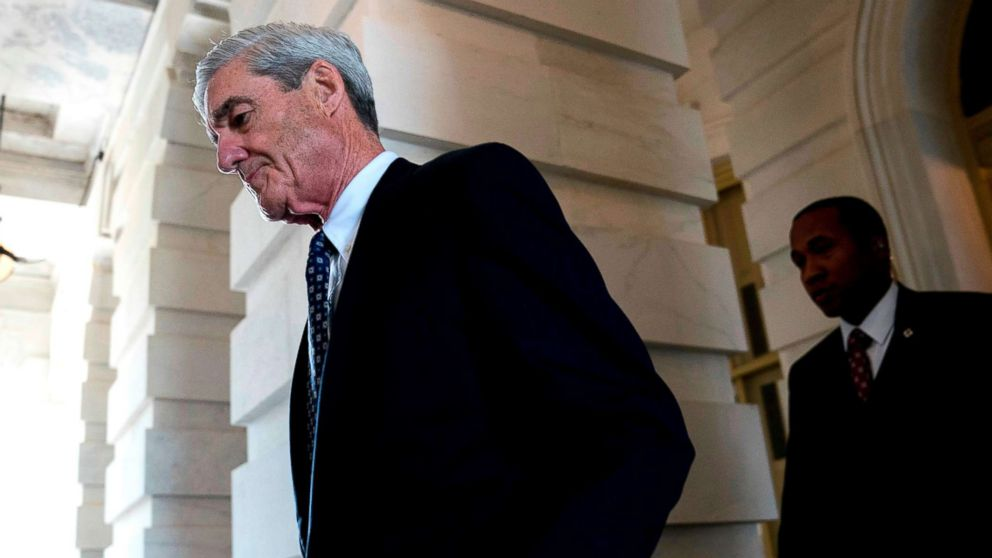 Former FBI Director Robert Mueller, the special counsel probing Russian interference in the 2016 election, departs Capitol Hill, June 21, 2017, following a closed door meeting in Washington.