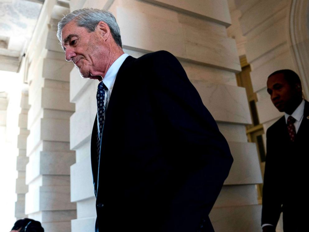 PHOTO:Former FBI Director Robert Mueller, the special counsel probing Russian interference in the 2016 election, departs Capitol Hill, June 21, 2017, following a closed door meeting in Washington.