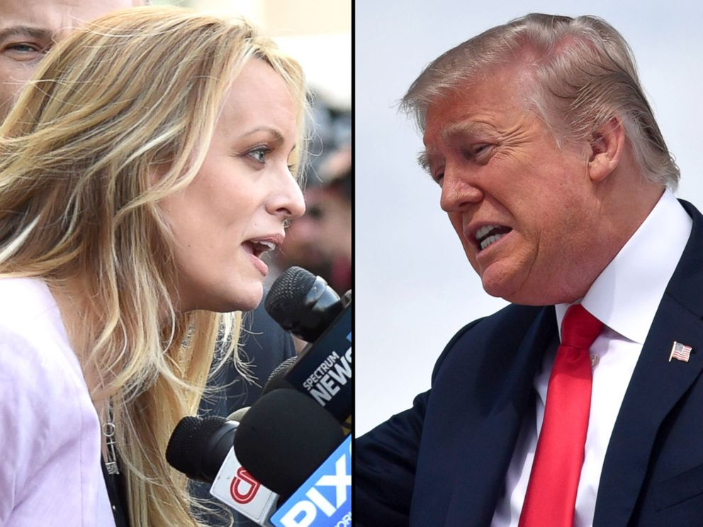 PHOTO: Stormy Daniels, left, and President Donald Trump.