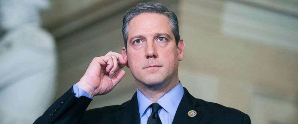 PHOTO: Rep. Tim Ryan in Statuary Hall before President Donald Trumps State of the Union address to a joint session of Congress in the House chamber, Jan. 30, 2018.