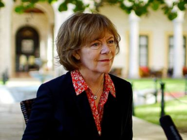 PHOTO: Minnesota Lieutenant Governor Tina Smith speaks during an interview at a hotel in Havana, Cuba, June 22, 2017.