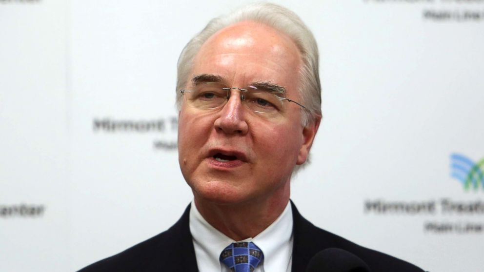 Health and Human Services Secretary Tom Price speaks at the Mirmont Treatment Center in Media, Pa., Sept. 15, 2017.