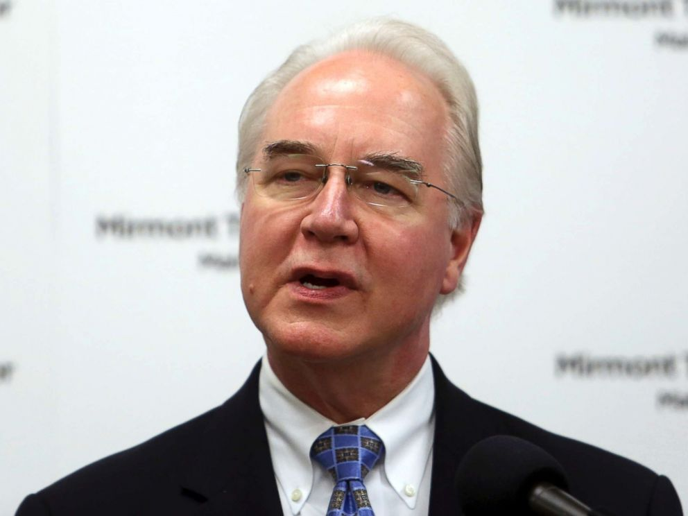 PHOTO: Health and Human Services Secretary Tom Price speaks at the Mirmont Treatment Center in Media, Pa., Sept. 15, 2017.