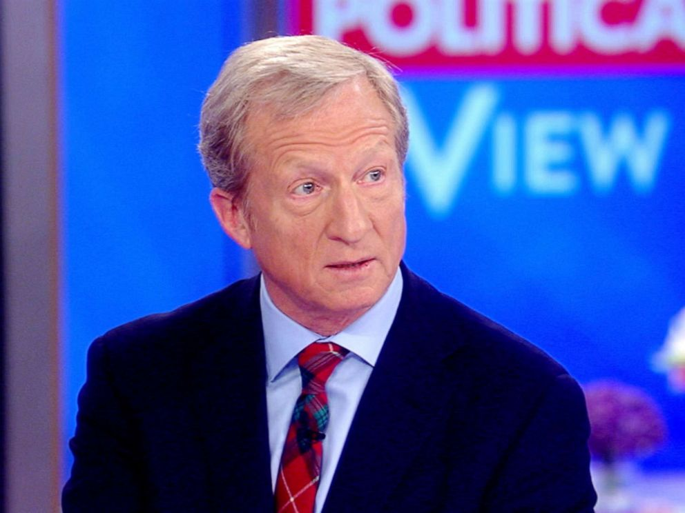 religion PHOTO: Tom Steyer appears on The View, Aug. 01, 2019.