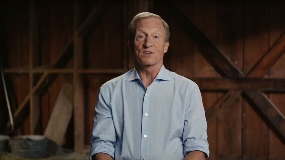 PHOTO: Tom Steyer makes his announcement as a 2020 presidential candidate in a video he posted to YouTube.