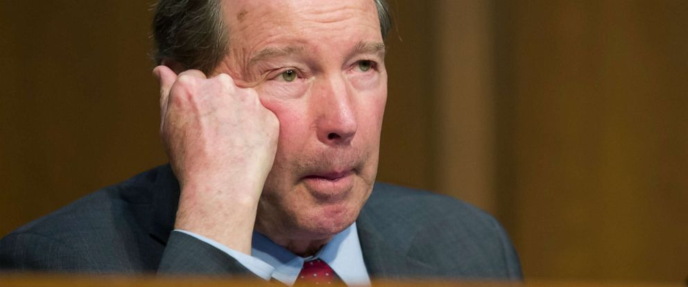 PHOTO: Sen. Tom Udall speaks during a Senate Transportation subcommittee hearing on on Capitol Hill, March 27, 2019, in Washington.