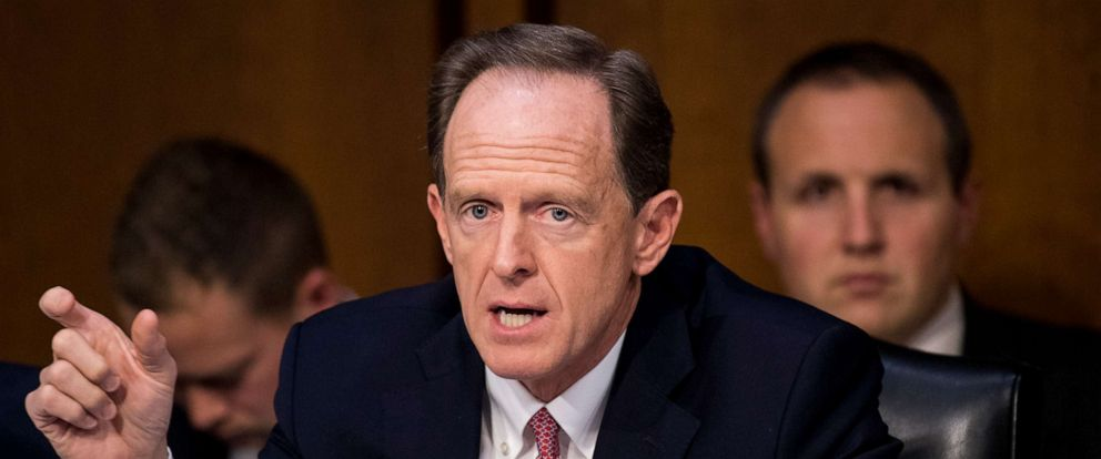 PHOTO: Sen. Pat Toomey, speaks during the mark up of the Senates tax reform bill in the Senate Finance Committee on Thursday, Nov. 16, 2017.