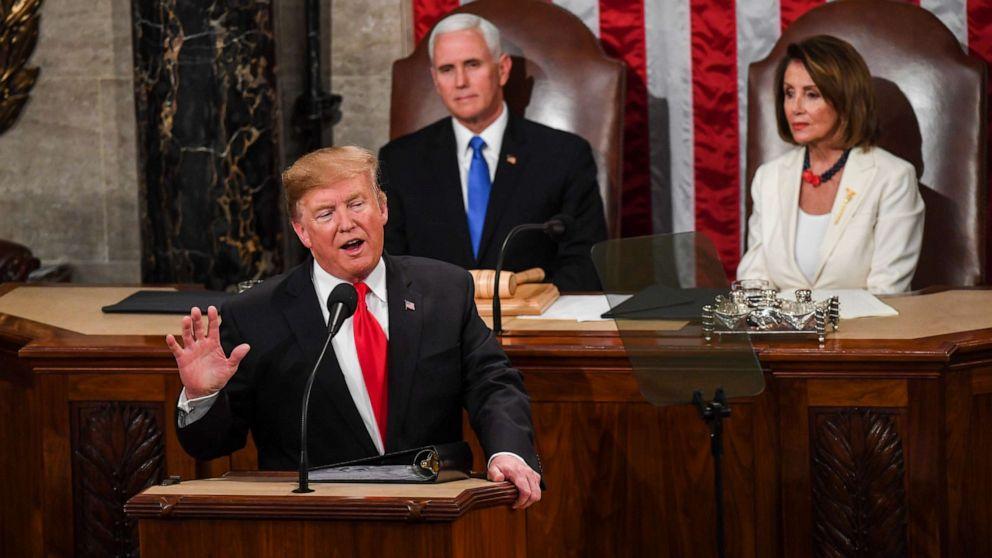Trump Kampagne arbeiten an Bargeld im Vorfeld der State of the Union