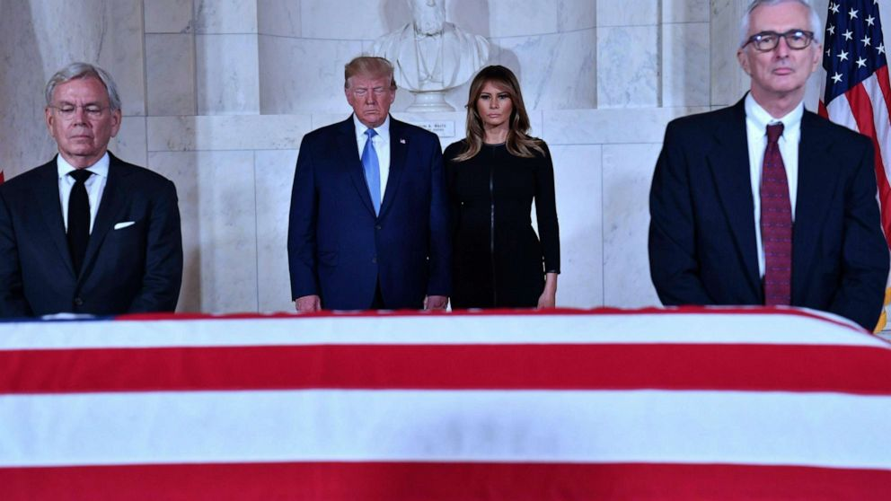 Trump pays respects to Justice Stevens lying in repose at Supreme Court thumbnail