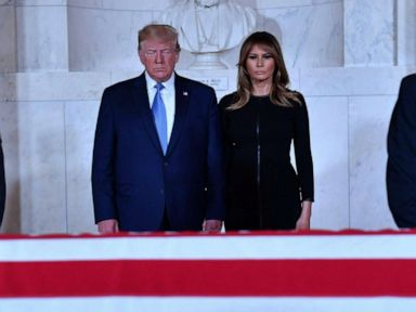 Trump pays respects to Justice Stevens lying in repose at Supreme Court