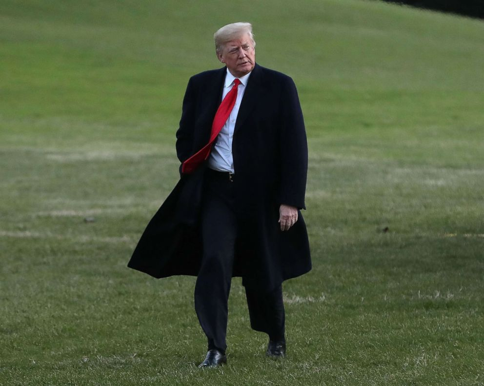 PHOTO: President Donald Trump arrives at the White House, Dec. 7, 2018.