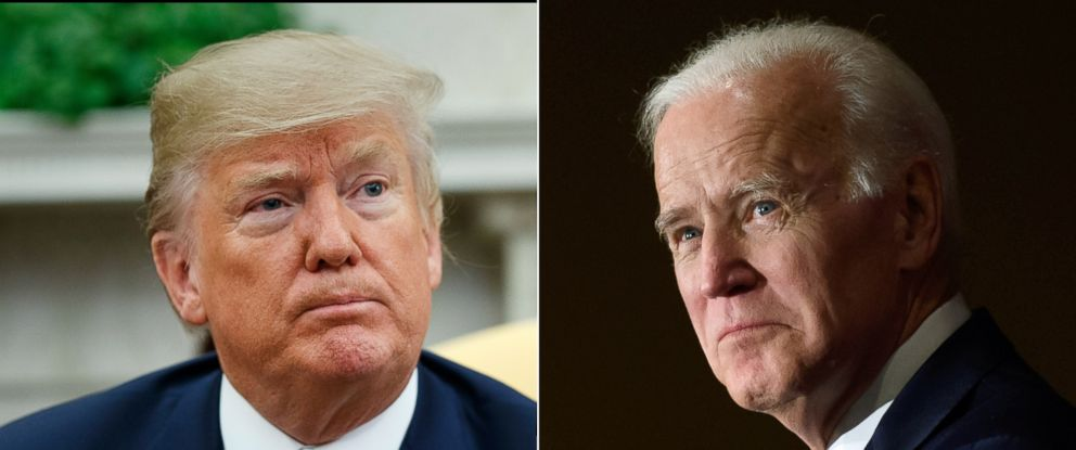 PHOTO: President Donald Trump and former Vice President Joe Biden.