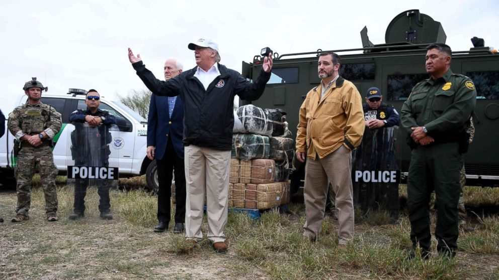 President Donald Trump speaks after he received a briefing on border security near the Rio Grande in McAllen, Texas, Jan. 10, 2019.