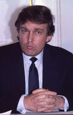 PHOTO: Donald Trump at a press conference to mark the launch of his Trump Shuttle airline on June 8, 1989, at the Plaza Hotel in New York.X