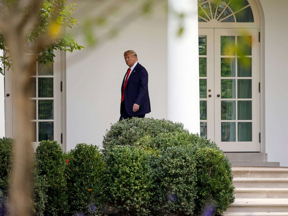 PHOTO: President Donald Trump walks to the Oval Office of the White House, Sept. 26, 2019.