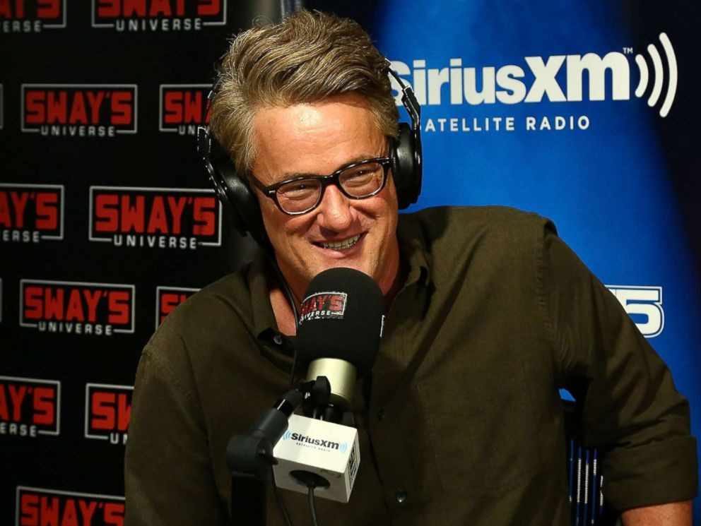 PHOTO: Host of MSNBCs Morning Joe, Joe Scarborough visits Sway in the Morning at SiriusXM Studios on August 2, 2017 in New York City.