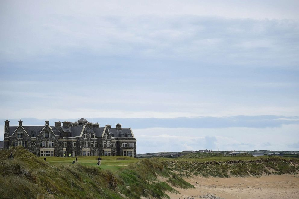 PHOTO: In this May 28, 2019, file photo, people play golf at President Donald Trumps Doonbeg Golf Club in the County Clare village of Doonbeg, Ireland.