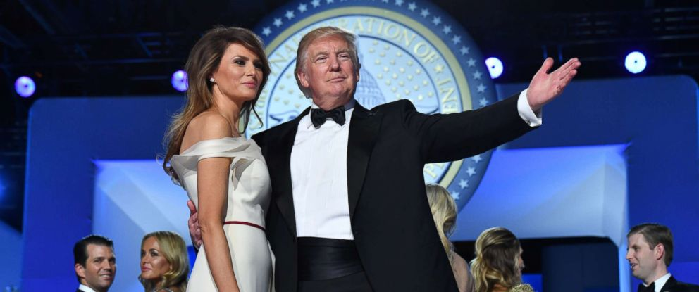 PHOTO: President Donald Trump and First Lady Melania Trump dance at the Freedom Ball on Jan. 20, 2017 in Washington.