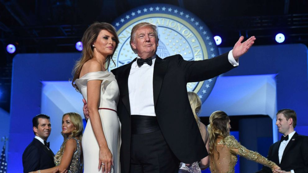 Photo of Trump and Melania at Inauguration Day
