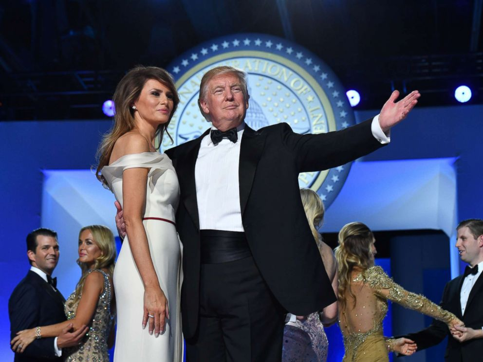 Pool via Getty Images FILEPresident Donald Trump and First Lady Melania Trump dance at the Freedom Ball on Jan. 20 2017 in Washington