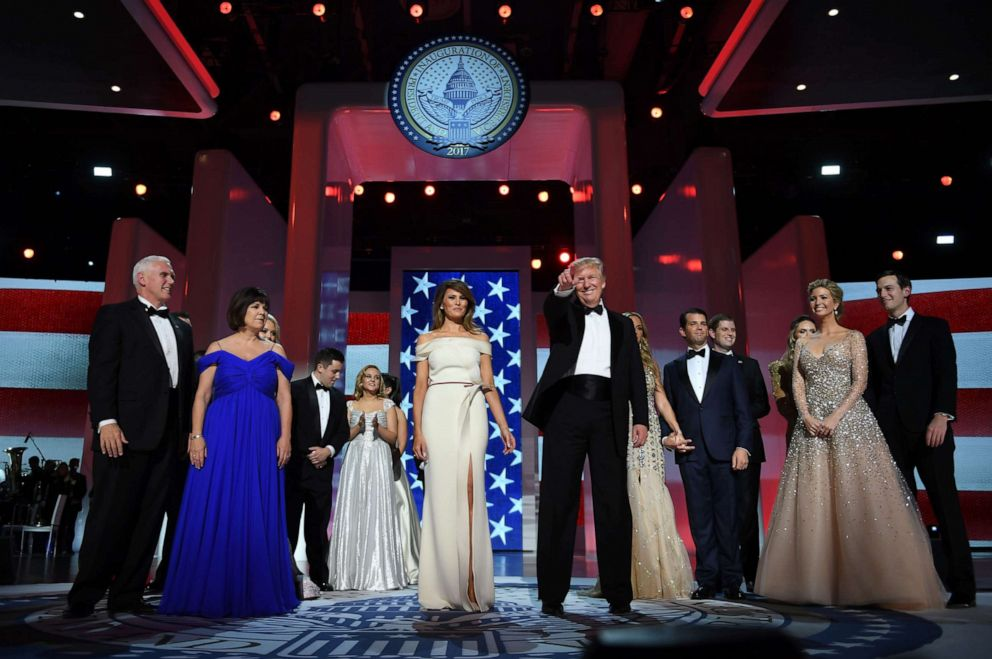 PHOTO: This file photo taken on January 20, 2017 shows US President Donald Trump at the Liberty Ball at the Washington DC Convention Center following Donald Trumps inauguration as the 45th President of the United States, in Washington, DC.