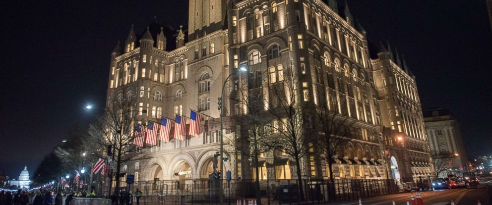 PHOTO: A view outside Trump International Hotel Washington, D.C. Jan. 19, 2017