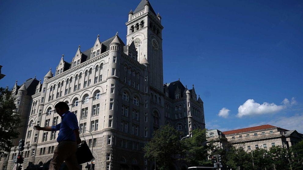 The Trump International Hotel is shown on Aug. 10, 2017 in Washington.