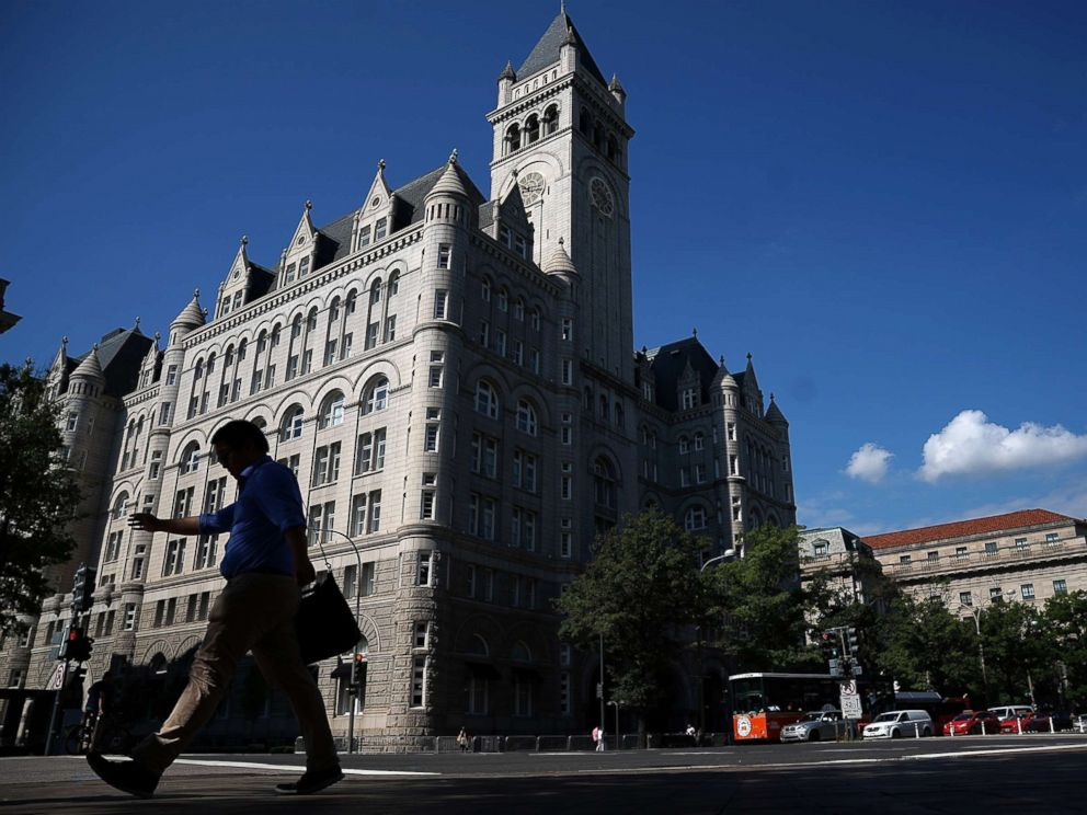 PHOTO: The Trump International Hotel is shown on Aug. 10, 2017 in Washington.