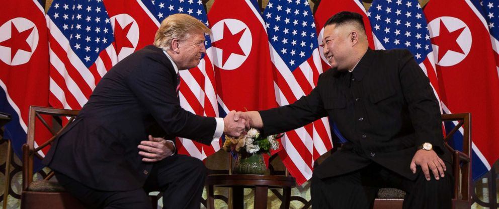 PHOTO: President Donald Trump meets North Korean leader Kim Jong Un, Feb. 27, 2019, in Hanoi, Vietnam.