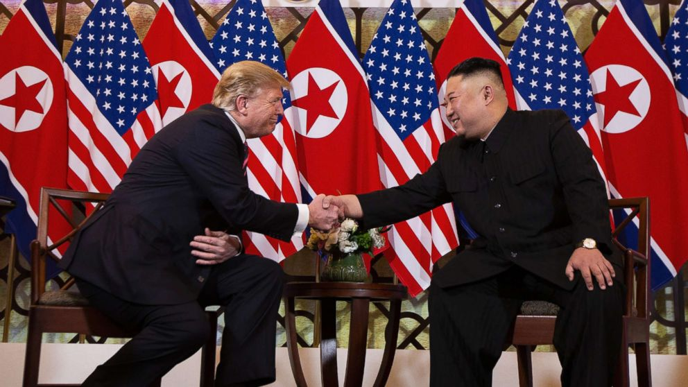 President Donald Trump meets North Korean leader Kim Jong Un, Feb. 27, 2019, in Hanoi, Vietnam.