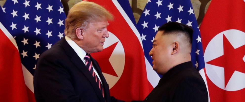 PHOTO: President Donald Trump meets North Korean leader Kim Jong Un, Feb. 27, 2019, in Hanoi.