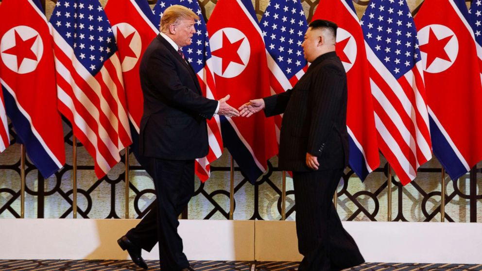 President Donald Trump meets North Korean leader Kim Jong Un, Feb. 27, 2019, in Hanoi.
