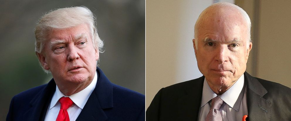 PHOTO: President Donald Trump and Senator John McCain