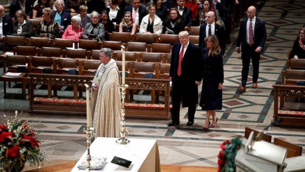 Melania Trump returns to Washington as Trumps attend Christmas Eve service