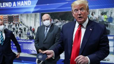 Trump claims he's 'all for masks,' even for himself, despite never ...