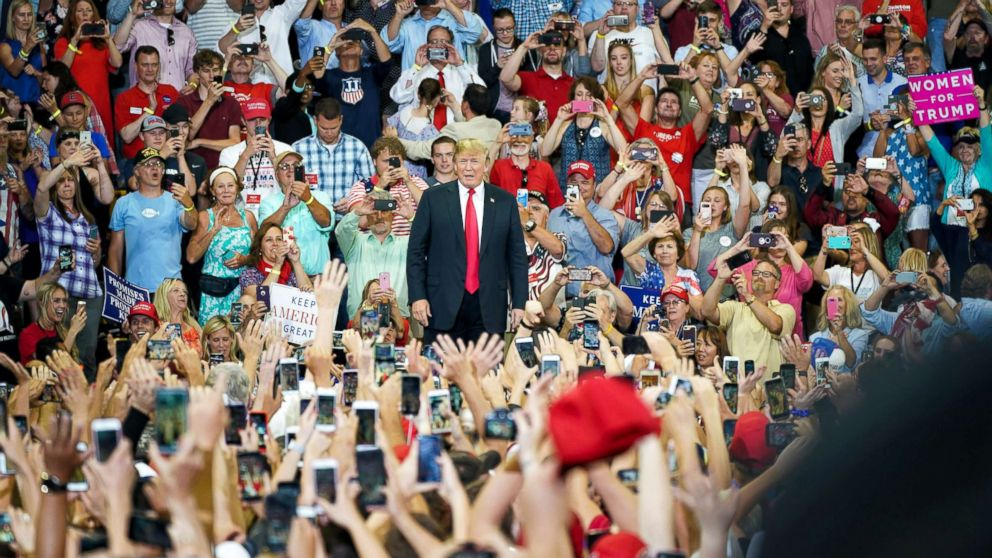 President Donald Trump makes his first visit to Minnesota as president on Wednesday, June 20, 2018, in Duluth, Minn.