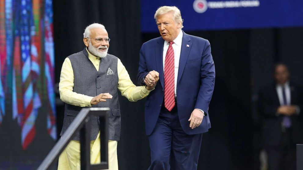 Trump, who loves a mega-rally, getting one during India trip
