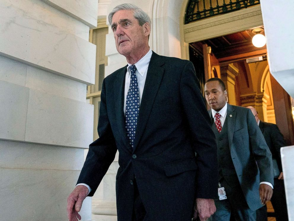 PHOTO: Former FBI Director Robert Mueller, the special counsel probing Russian interference in the 2016 election, departs Capitol Hill following a closed door meeting, June 21, 2017.