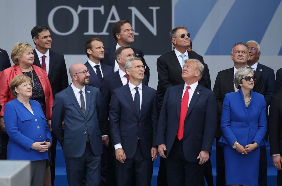 PHOTO: 2018 NATO Summit at NATO headquarters on July 11, 2018 in Brussels, Belgium.