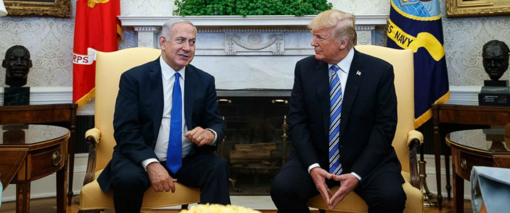 PHOTO: President Donald Trump meets with Israeli Prime Minister Benjamin Netanyahu in the Oval Office of the White House, March 5, 2018, in Washington, D.C.