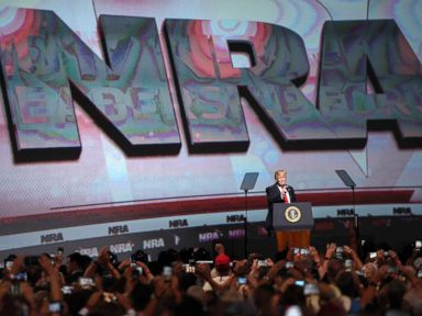 President Trump to address NRA amid scrutiny over response to mass shootings