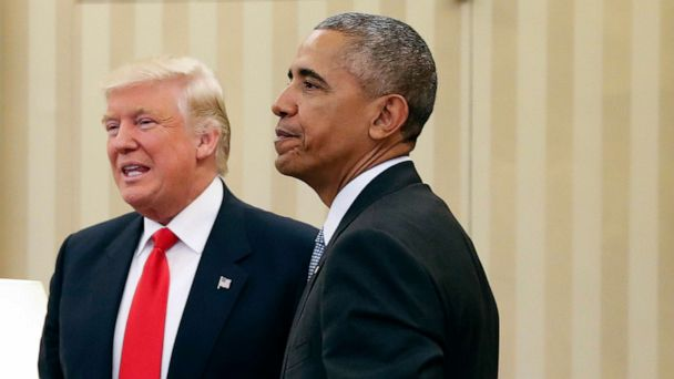 Trump hits back at Obama rebuke of divisive language in wake of mass shootings