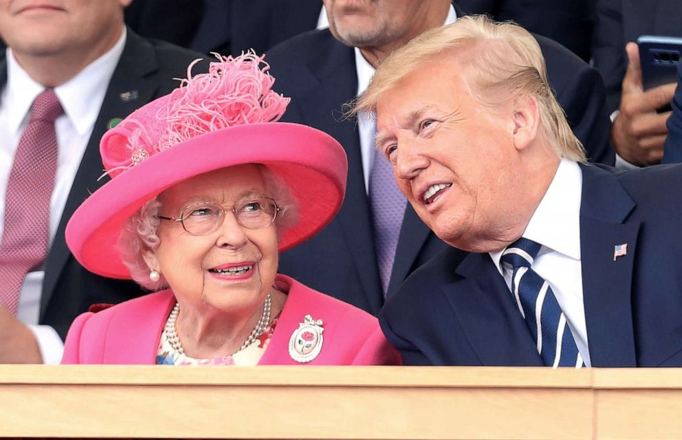 PHOTO: Queen Elizabeth II and President, Donald Trump attend the D-day 75 Commemorations on June 05, 2019 in Portsmouth, England.