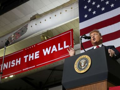 Trump says wall will be built, calls out Beto O'Rourke at El Paso campaign rally