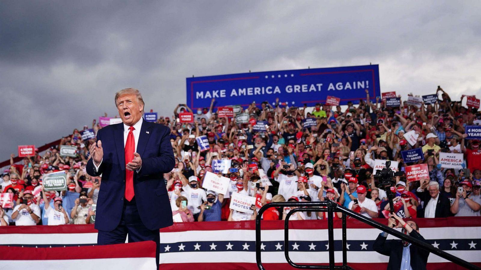 Trump to rally in Michigan on heels of Biden visit - ABC News