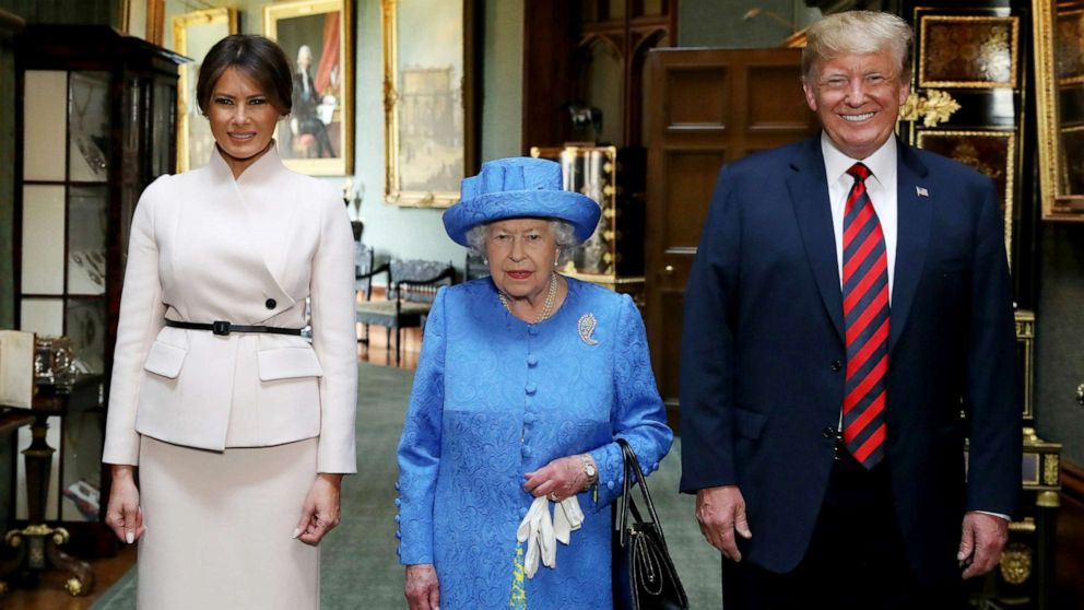 Trump family joining president, first lady on UK state visit with the queen