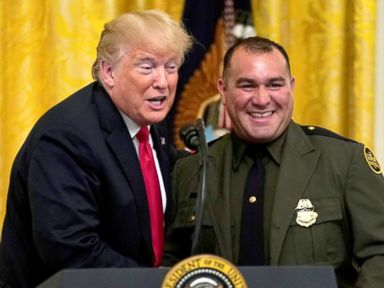Trump honors federal immigration officials at White House